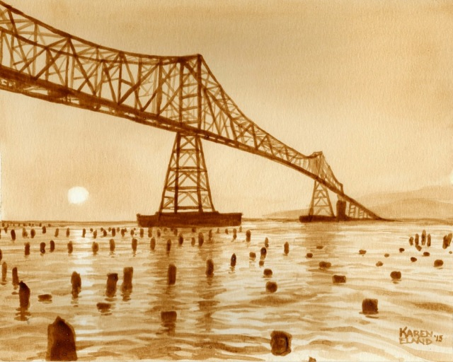 06-Astoria-Bridge-Sunset-Karen Eland-Vintage-Looking-Beer-and-Water-Paintings-www-designstack-co