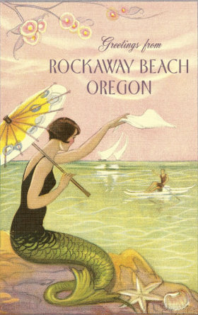 mermaid-waving-from-rockaway-beach-oregon